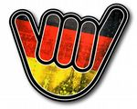 NO WORRIES Hand With Germany German Grunge Flag Motif External Vinyl Car Sticker 105x100mm